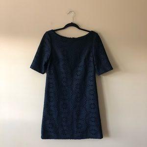 Jessica Howard navy blue lace dress